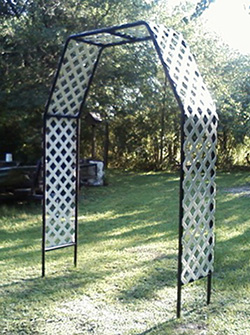 Completed garden arch frame